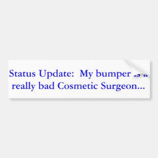 Texting, Driving, Disfigurment Bumper Sticker