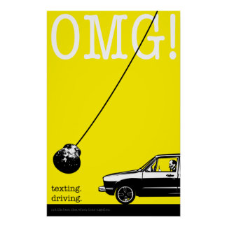 texting. driving. original poster