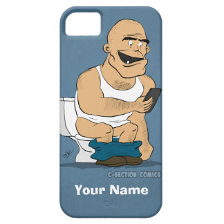 Texting en el lavabo - caso de encargo divertido d iPhone 5 coberturas