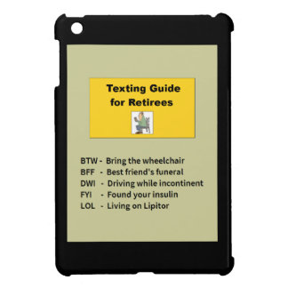 Texting Guide for Retiree Cover For The iPad Mini