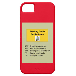 Texting Guide for Retirees iPhone SE/5/5s Case