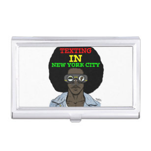 Selfies business card holders cases zazzle texting in new york city case for business cards reheart Image collections