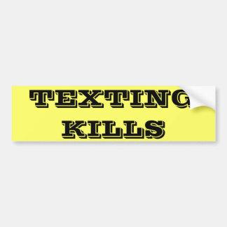 TEXTING KILLS BUMPER STICKER