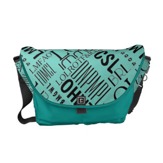 Texting laughs courier bag
