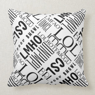 Texting laughs pillows