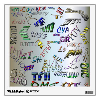 Texting Message Dictionary - Abbreviations Wall Sticker