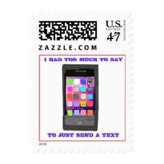Texting Message Need to Talk Postage Stamp