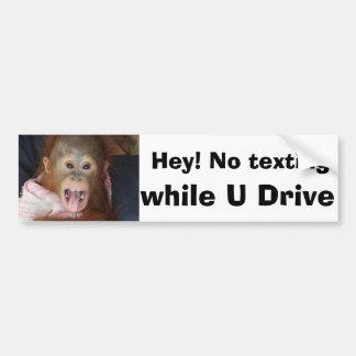 Texting mientras que conduce la señal de peligro pegatina para auto