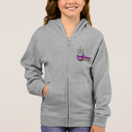 Texting Queen Fleece Zip Hoodie