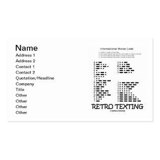 Texting retro (código Morse internacional) Tarjetas Personales
