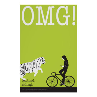 texting. riding. poster