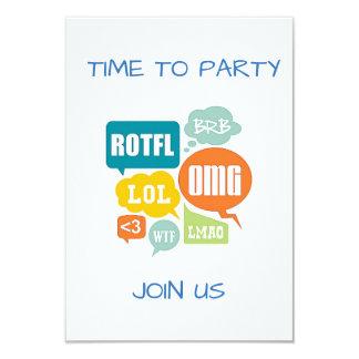 "TEXTING ""SENIOR STYLE"" PARTY INVITATION"