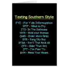 TEXTING SOUTHERN STYLE TO SAY HAPPY BIRTHDAY CARD