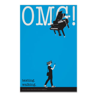 texting. walking. posters