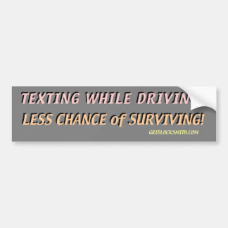 ¿TextingWhileDriving? Etiqueta De Parachoque