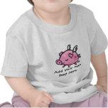 Texto adaptable del cerdo del vuelo del dibujo ani camisetas