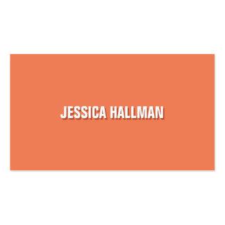 Texto agudo y limpio de la sombra en el naranja plantilla de tarjeta de visita