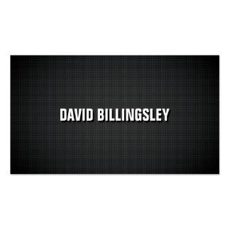 Texto agudo y limpio de la sombra en textura negra tarjeta de negocio