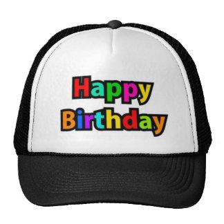 Texto alegre del feliz cumpleaños gorro de camionero