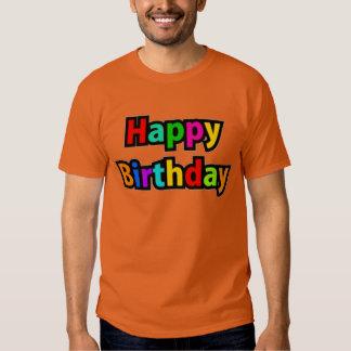 Texto alegre del feliz cumpleaños polera