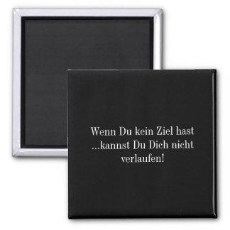 Texto alemán - humor imán cuadrado