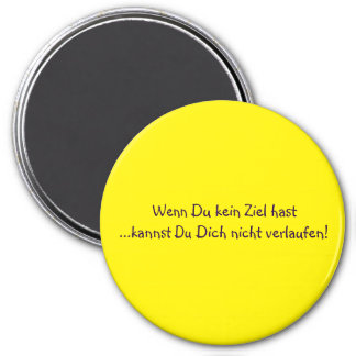 Texto alemán - humor imán redondo 7 cm