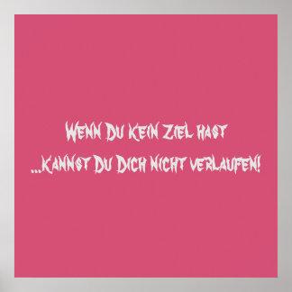 Texto alemán - humor póster