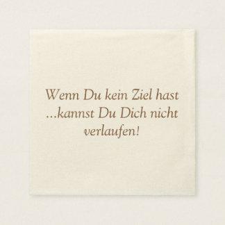 Texto alemán - humor servilletas desechables
