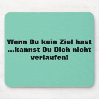 Texto alemán - humor alfombrilla de ratón