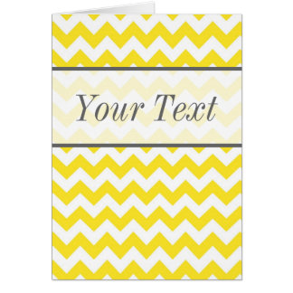 Texto amarillo del personalizado de los galones tarjeta de felicitación