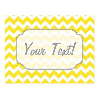 Texto amarillo del personalizado de los galones tarjetas postales