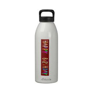 Texto artístico de la escritura del FELIZ CUMPLEAÑ Botella De Agua