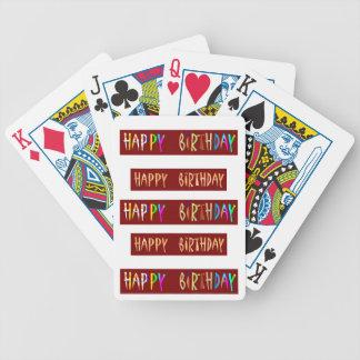 Texto artístico de la escritura del FELIZ CUMPLEAÑ Baraja Cartas De Poker