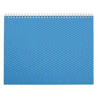 texto azul del cubo calendarios de pared
