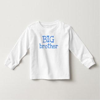 Texto azul hermano mayor playera de bebé