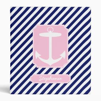 """Texto azul y rosado del personalizado del ancla carpeta 1"""""""