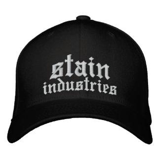 Texto blanco bordado gorra de las industrias de la gorra de beisbol