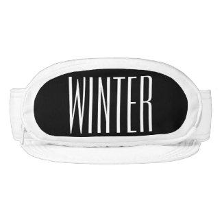 Texto blanco y negro del invierno del trasero del visera
