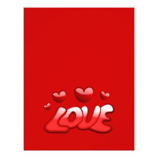 Texto brillante rojo de los corazones burbujeantes flyer a todo color