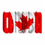 Texto canadiense de la bandera de CANADÁ Escultura Fotografica