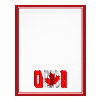 Texto canadiense de la bandera de CANADÁ Plantillas De Membrete