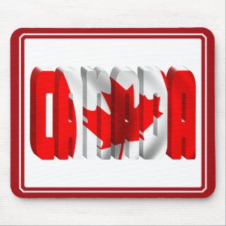 Texto canadiense de la bandera de CANADÁ Tapete De Ratones