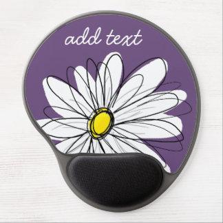 Texto caprichoso púrpura y amarillo del personaliz alfombrillas con gel