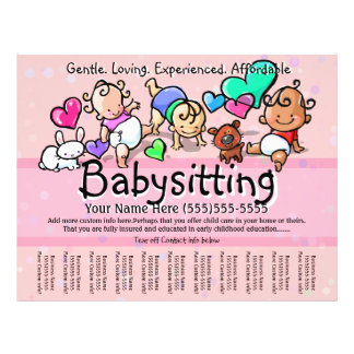 Texto/color de Babysitting.Childcare.Day Flyer Personalizado