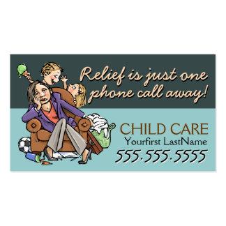 Texto/color de Childcare.Babysitting.Custom Tarjetas De Visita