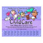 "Texto/color de Childcare.Babysitting.Day Folleto 8.5"" X 11"""