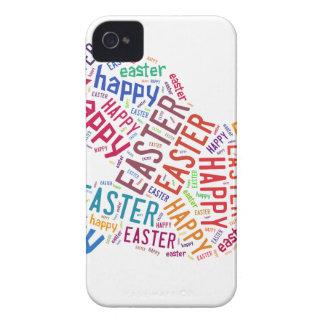 Texto colorido feliz del saludo de Pascua Case-Mate iPhone 4 Coberturas