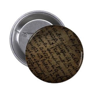 Texto con la escritura antigua, papel viejo del pe pin