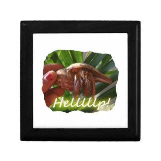 Texto de ayuda del cangrejo y de ermitaño, diseño  joyero cuadrado pequeño