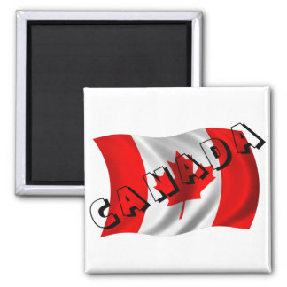 Texto de CANADÁ en bandera canadiense Iman Para Frigorífico